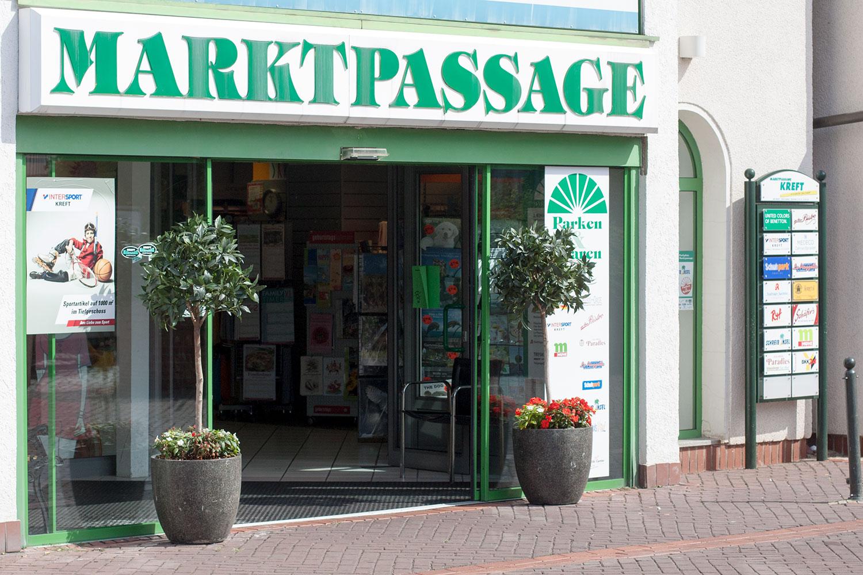 Marktpassage - Eingang von den Parkplätzen
