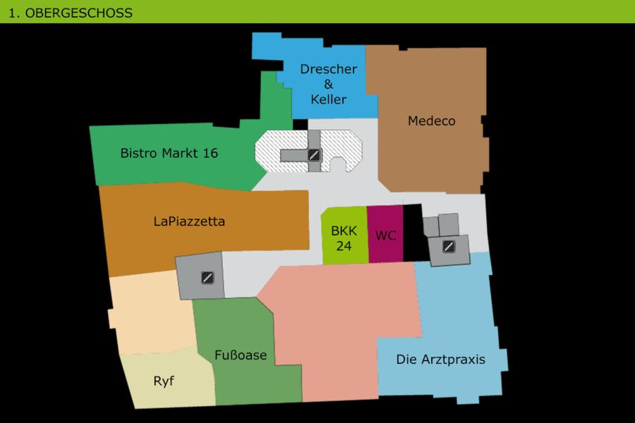 Lageplan Obergeschoss
